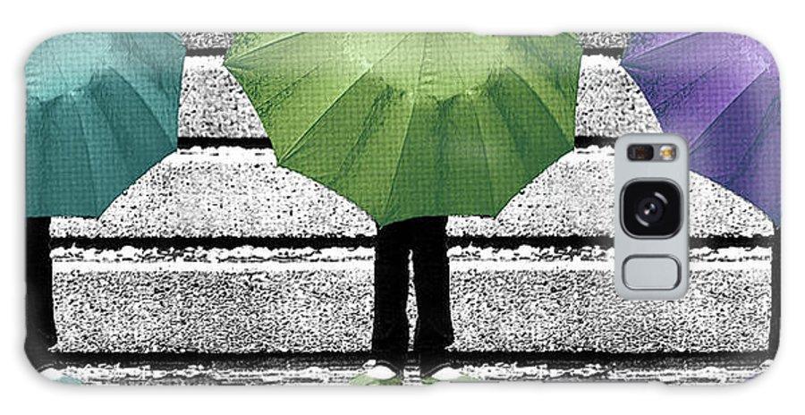 Umbrella Galaxy S8 Case featuring the photograph Umbrella Trio by Lisa Knechtel