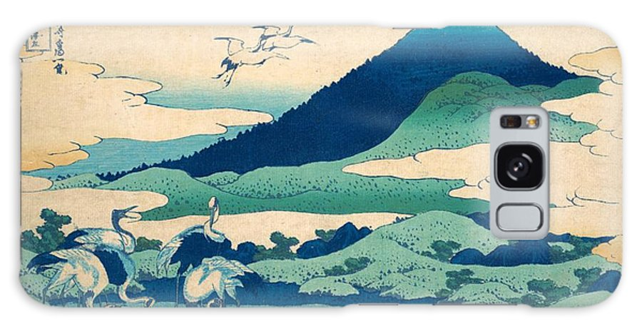 1830-1832 Galaxy Case featuring the painting Umezawa Manor In Sagami Province by Katsushika Hokusai