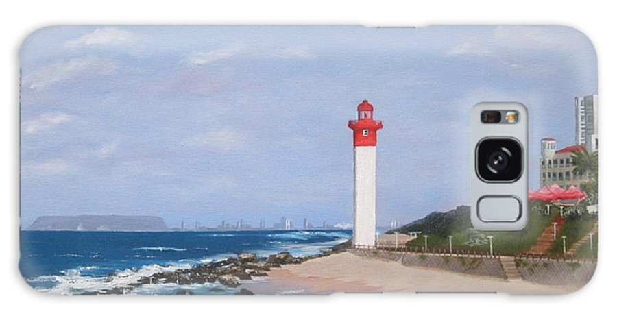 Umhlanga Lighthouse Galaxy S8 Case featuring the painting Umhlanga Lighthouse Durban by Jenny Smith