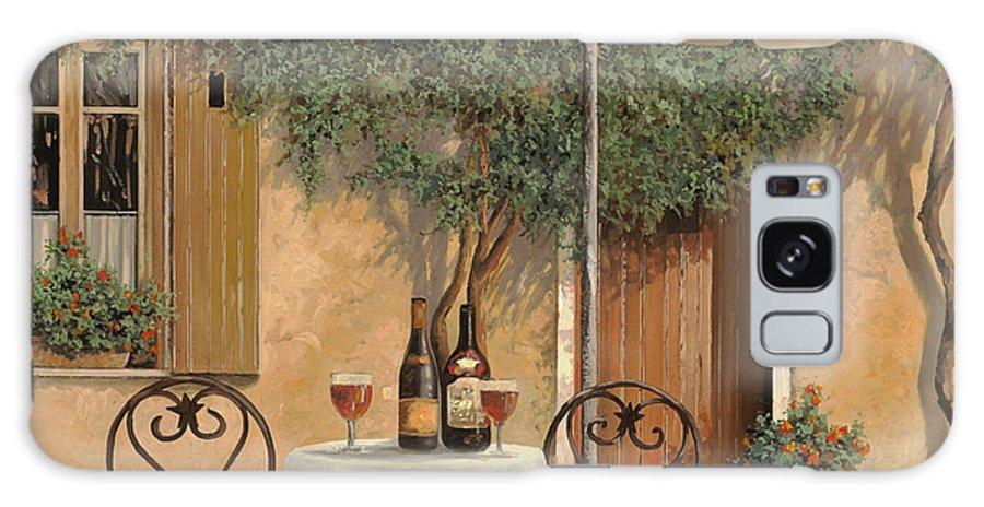 Chianti Galaxy Case featuring the painting Un Altro Bicchiere Prima Di Pranzo by Guido Borelli