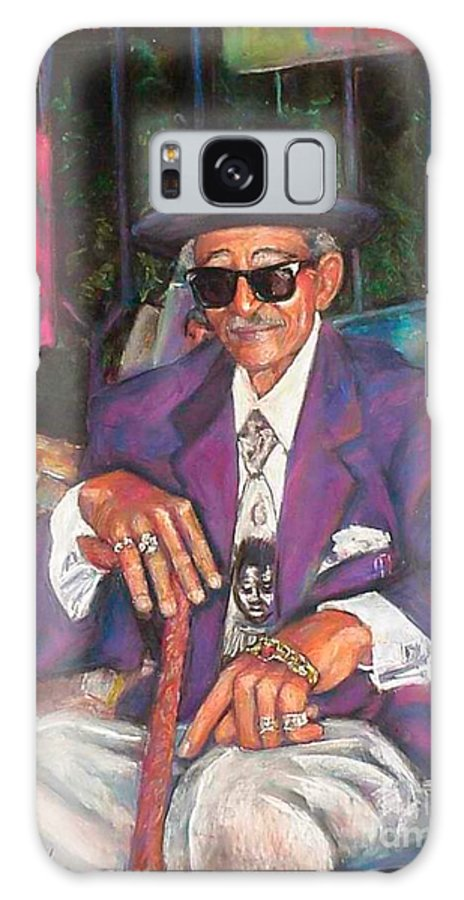 New Orleans Musician Galaxy S8 Case featuring the painting Uncle With Time On His Hands by Beverly Boulet