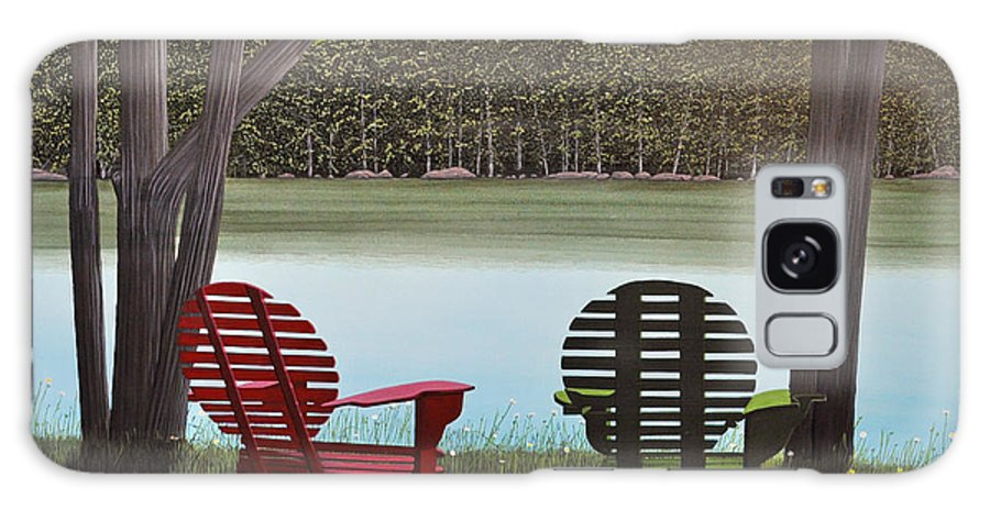 Landscapes Galaxy S8 Case featuring the painting Under Muskoka Trees by Kenneth M Kirsch
