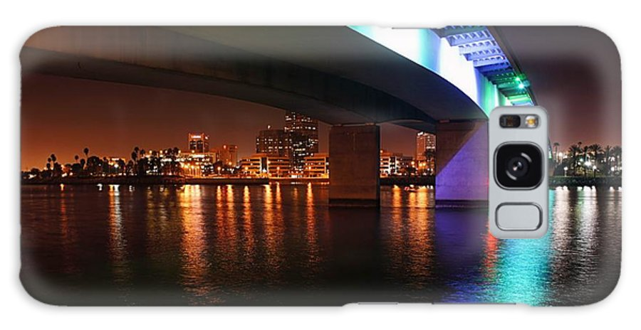 Long Beach Galaxy S8 Case featuring the photograph Under The Bridge In Long Beach by Jenny Hudson