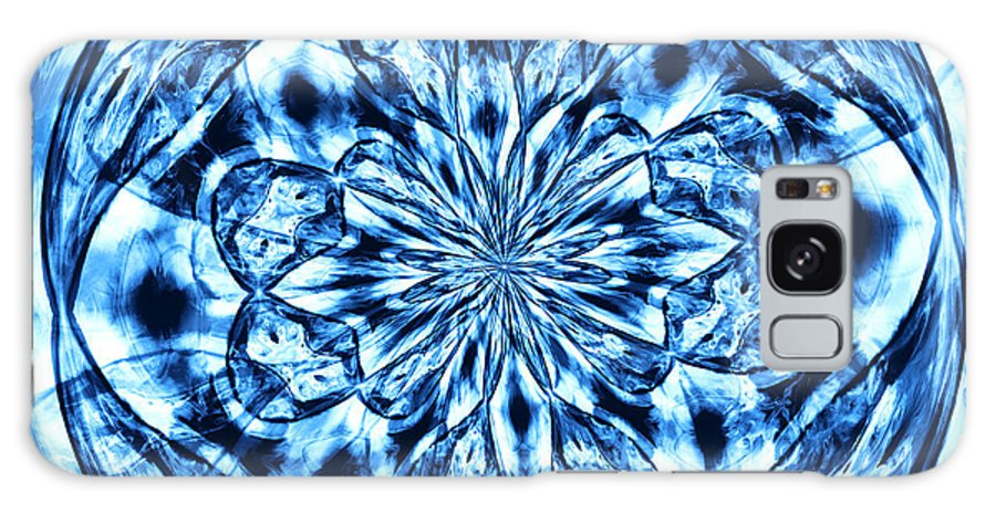 Blue Mandala Galaxy S8 Case featuring the photograph Under The Microscope by Shawna Rowe