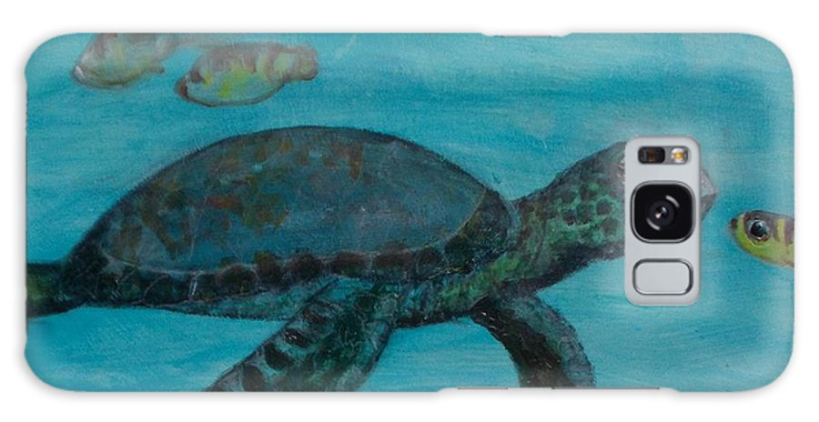 Seascapes Galaxy Case featuring the painting Under The Sea by Darla Joy Johnson