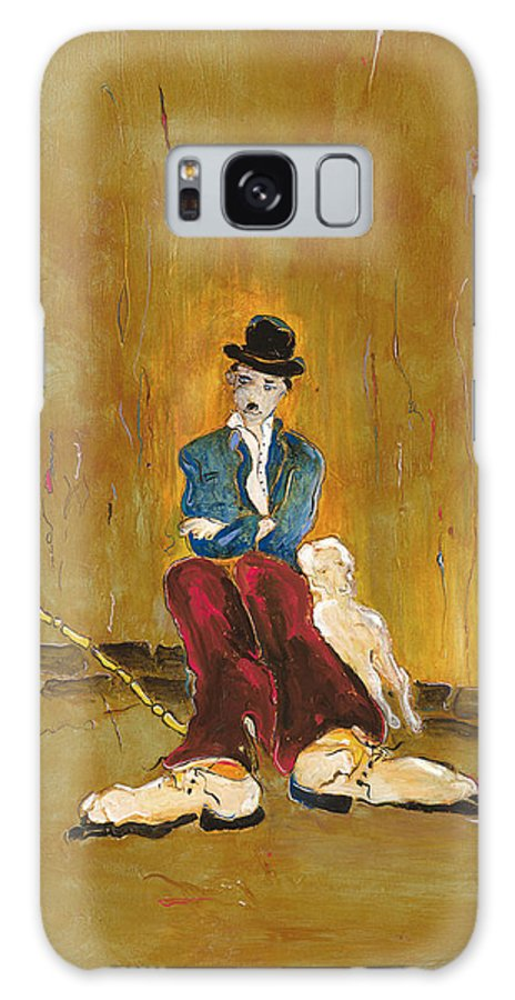 Charlie Chaplin Galaxy S8 Case featuring the painting Une Vie De Chien - Orig. For Sale by Bernard RENOT