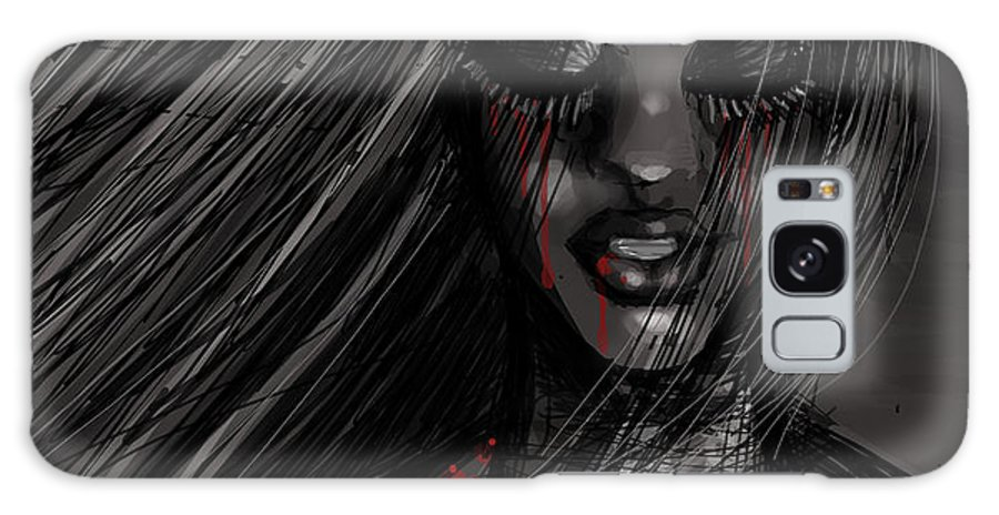 Blood Galaxy S8 Case featuring the digital art Unfinished Business by Brooke Thorne