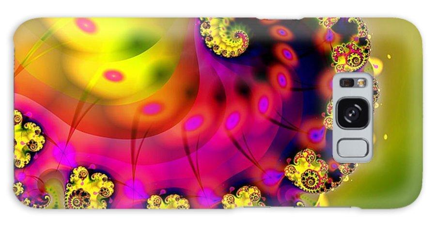 Abstract Wall Art Galaxy S8 Case featuring the digital art Unfurling by Sharon Lisa Clarke