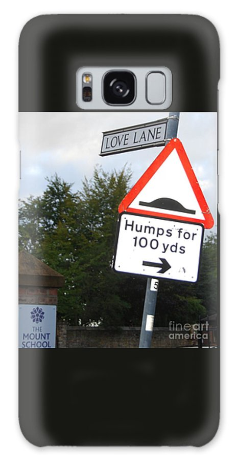 Humorous Signage Art York England Whimsical Outdoors Whimsy English Humour Published Funny Confluence Wood Print Metal Frame Recommended Canvas Print Greeting Cards Available On T Shirts Tote Bags Phone Cases Throw Pillows Duvet Covers Mugs And Shower Curtains Galaxy S8 Case featuring the photograph Unintentional Humor Group Of Signs by Marcus Dagan