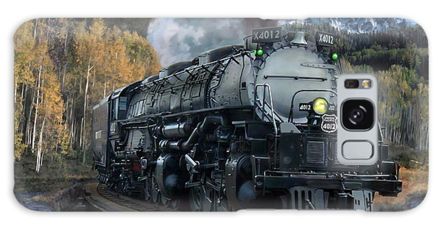 Railroad Galaxy S8 Case featuring the painting Union Pacific 4-8-8-4 Big Boy by Mark Karvon