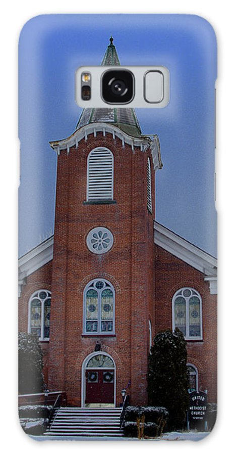 United Methodist Galaxy S8 Case featuring the photograph United Methodist Church Lowville Ny by Dennis Comins