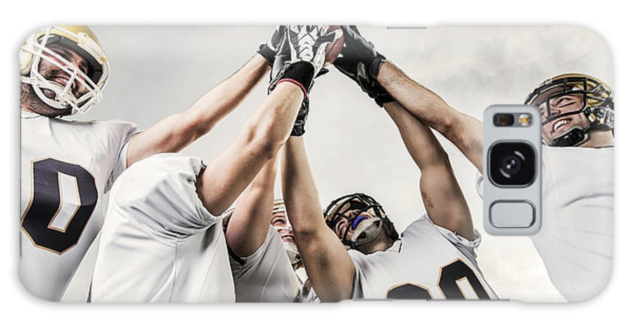 Young Men Galaxy Case featuring the photograph Unity Of American Football Players by Skynesher