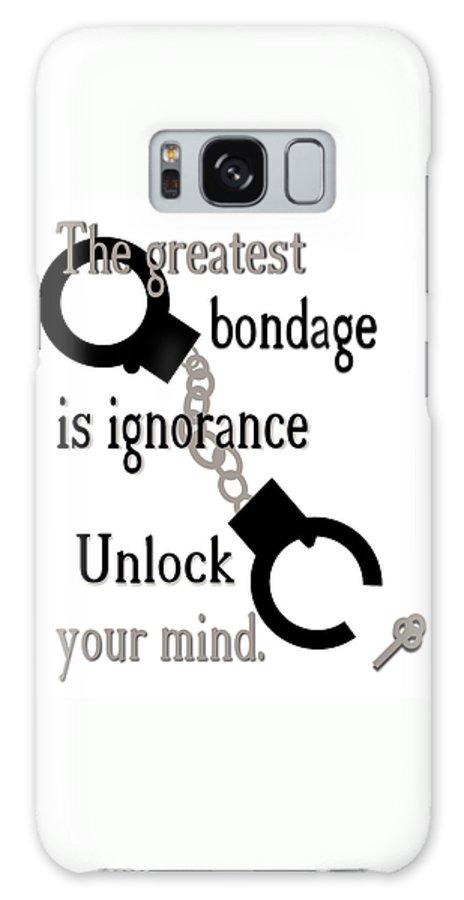 Ignorance Galaxy Case featuring the digital art Unlock Your Mind by Pharris Art