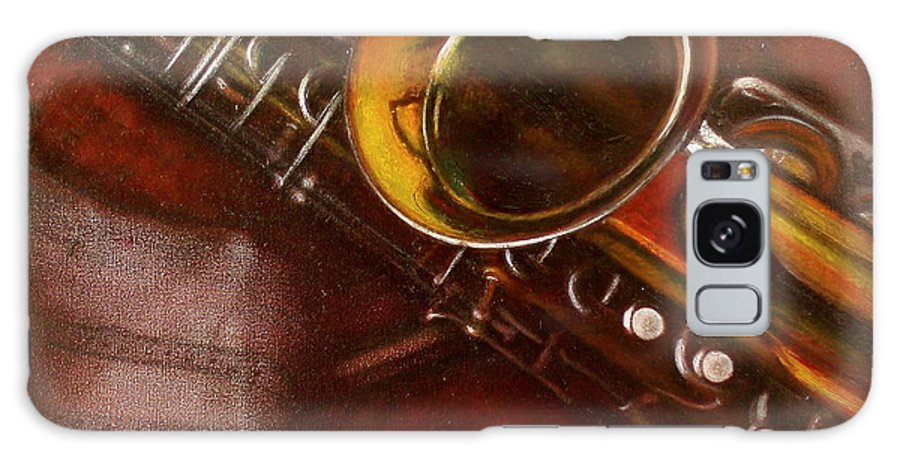 Oil Painting On Canvas Galaxy S8 Case featuring the painting Unprotected Sax by Sean Connolly