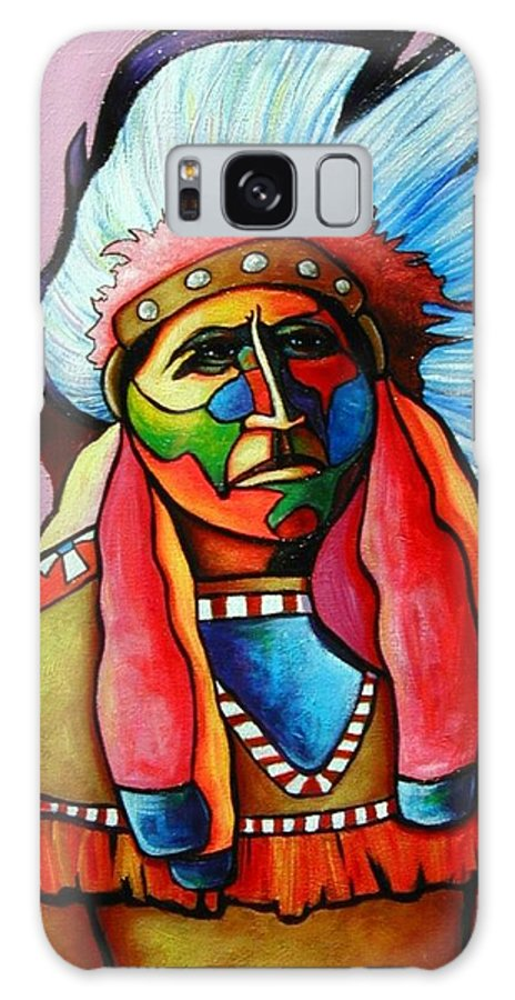 American Indian Galaxy Case featuring the painting Until I'm Breathless by Joe Triano