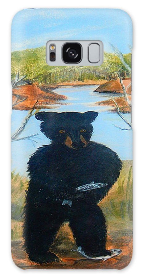 Bear Galaxy S8 Case featuring the painting Untitled Bear by Brenda L Baker