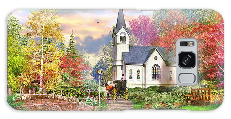 Cottage Galaxy S8 Case featuring the photograph Autumnal Church by MGL Meiklejohn Graphics Licensing