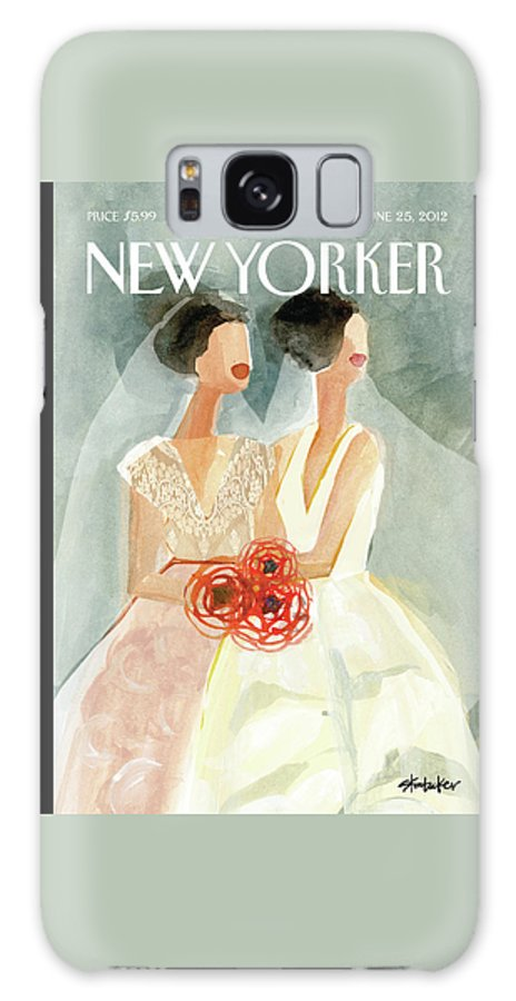June Brides Galaxy Case featuring the painting June Brides by Gayle Kabaker