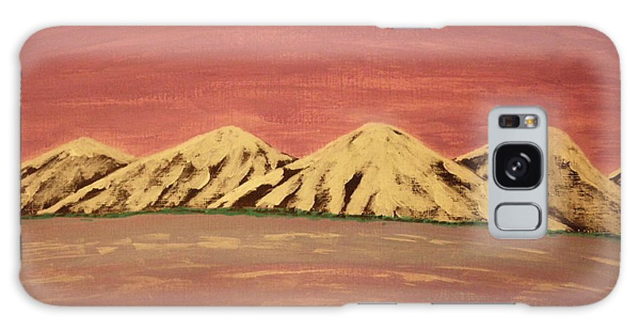 Purple Sky Galaxy S8 Case featuring the painting Untitled Mountains by Erica Darknell