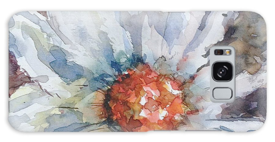 A Stylistic Watercolor Of A Flower Done In Close Up Image Beautiful Color Flow That Excites Your Imagination Galaxy S8 Case featuring the painting Up Close..and Beautiful by Stephanie Sodel