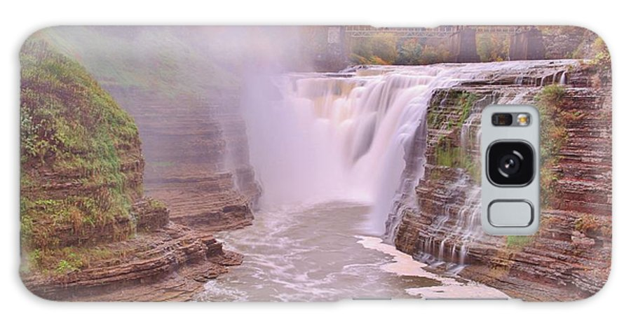 Waterfalls Galaxy S8 Case featuring the photograph Upper Falls On The Genesee River by Laurie Tracy