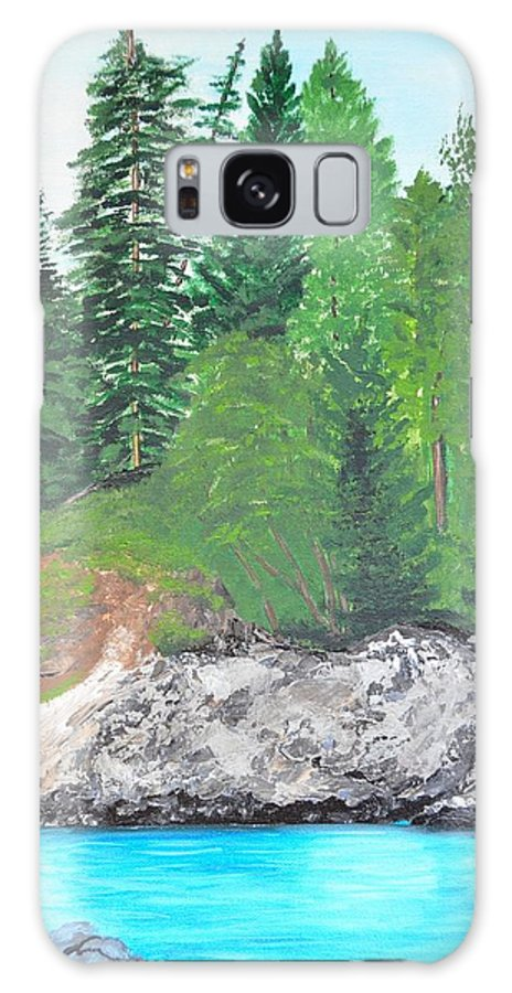 Lakes Galaxy S8 Case featuring the painting Upper Pit Lake by Marsha Thornton