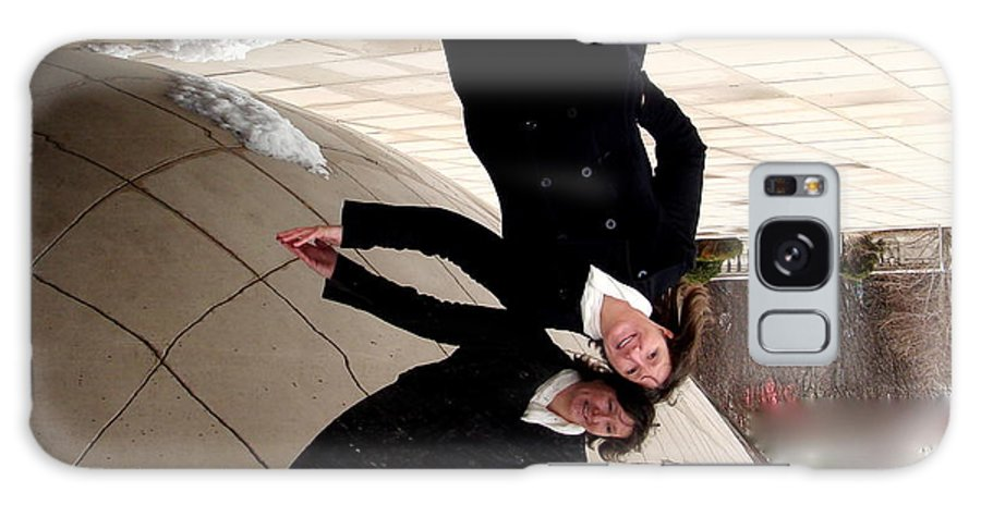 The Bean Galaxy S8 Case featuring the photograph Upside Down At The Bean by Rita Mueller