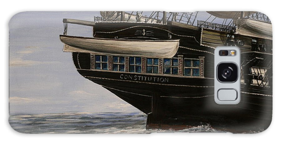 Battle Of Trafalgar Galaxy S8 Case featuring the painting Uss Constitution 1865 by Richard John Holden RA