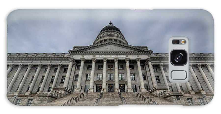 Hdr Galaxy S8 Case featuring the photograph Utah State Capitol Building by Michael Ver Sprill