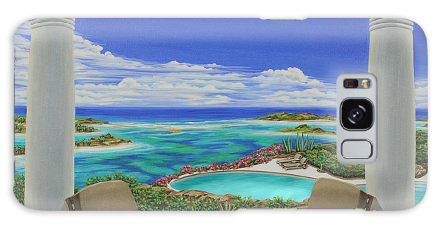 Ocean Galaxy S8 Case featuring the painting Vacation View by Jane Girardot