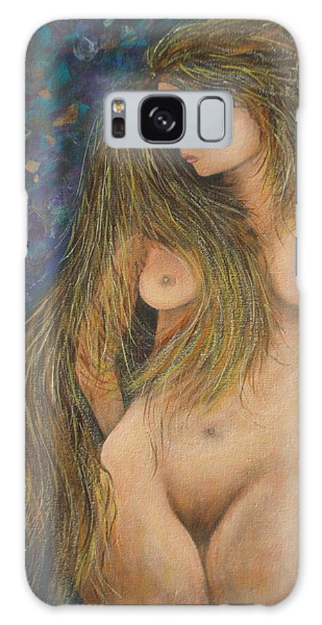 Woman Galaxy S8 Case featuring the painting Valencina by Natalie Holland
