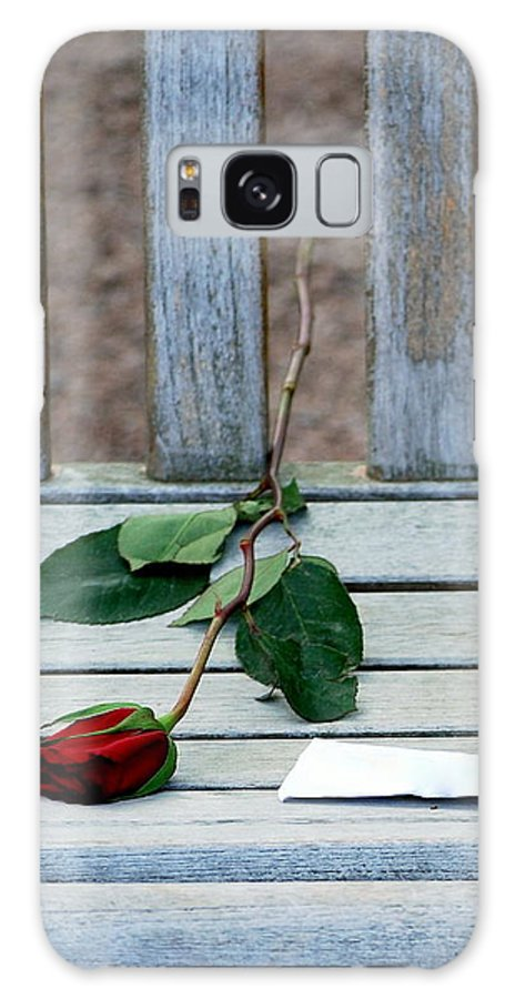 Valentine Galaxy S8 Case featuring the photograph Valentine Rose. by Oscar Williams