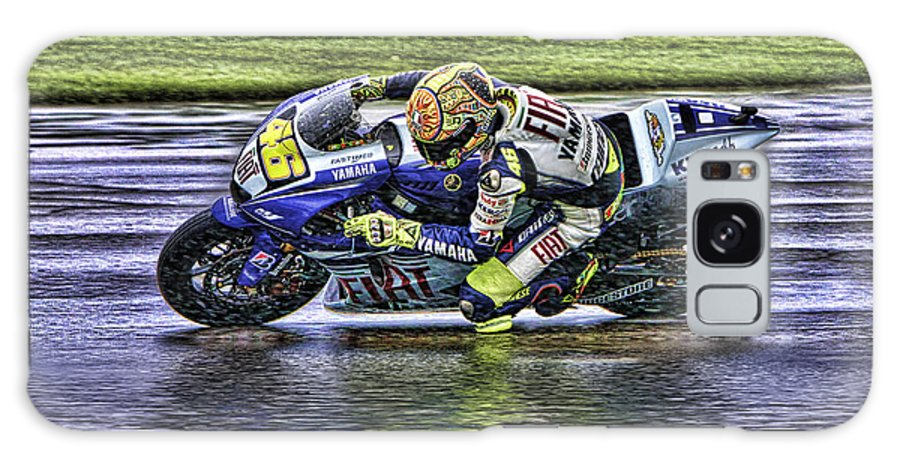 Valentino Rossi Galaxy S8 Case featuring the photograph Valentino Rossi At Indy by Blake Richards