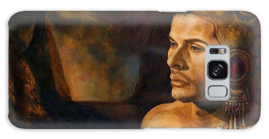 Landscape Galaxy S8 Case featuring the painting Valle Sagrado by Estela Gama