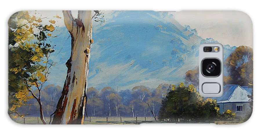 Rural Galaxy S8 Case featuring the painting Valley Gum Tree by Graham Gercken