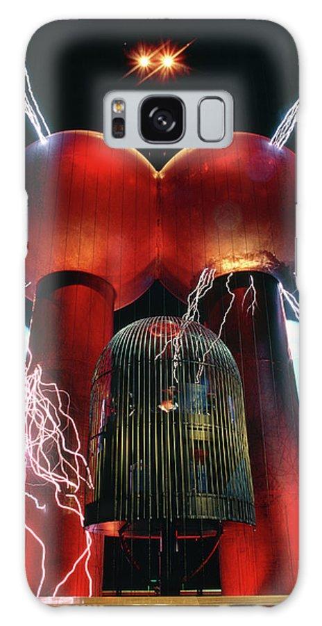 Van De Graaff Generator Galaxy Case featuring the photograph Van De Graaff Generator & Faraday Cage by Peter Menzel/science Photo Library