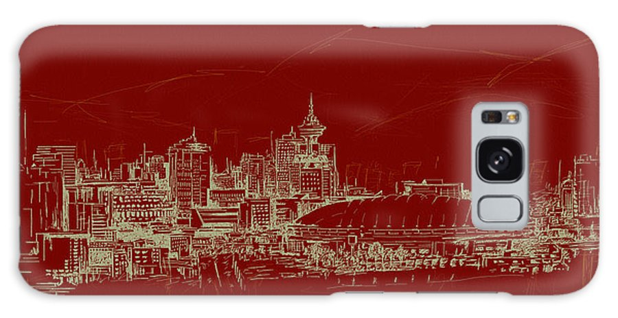 Vancouver Galaxy S8 Case featuring the painting Vancouver Art 007 by Catf