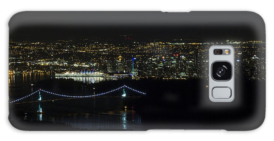 Lions Gate Bridge Galaxy S8 Case featuring the photograph Vancouver At Night by Jeremy Oberg