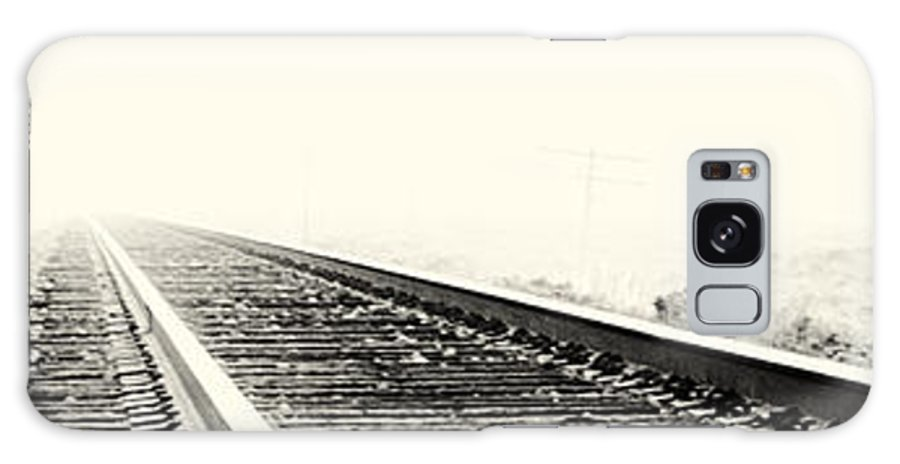 Train Tracks Galaxy S8 Case featuring the photograph Vanishing Point by Caitlyn Grasso