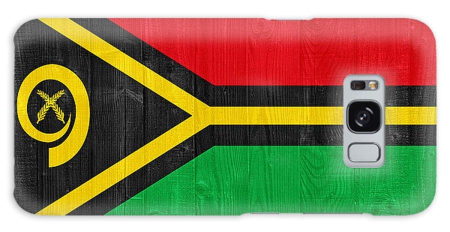 Vanuatu Galaxy S8 Case featuring the photograph Vanuatu Flag by Luis Alvarenga