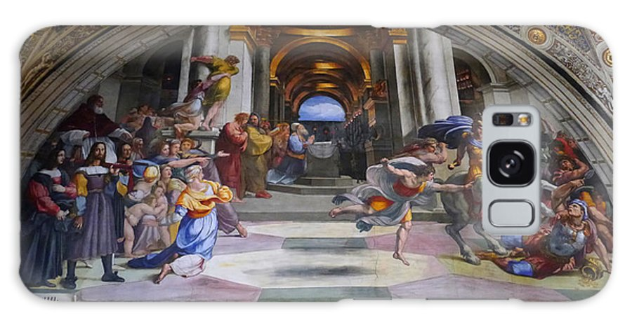 Galaxy S8 Case featuring the photograph Vatican Fresco 4 by Herb Paynter