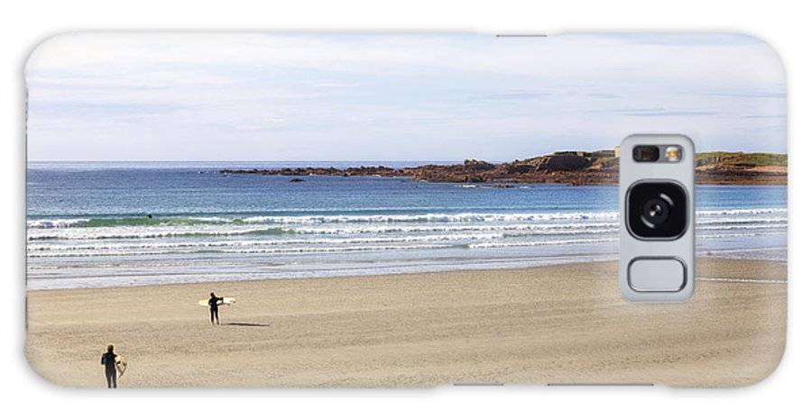 Fort Hommet Galaxy S8 Case featuring the photograph Vazon Bay - Guernsey by Joana Kruse