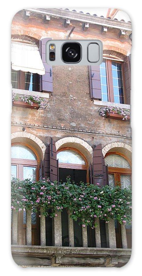 Venice Galaxy S8 Case featuring the photograph Venetian Veranda by Marilyn Machado