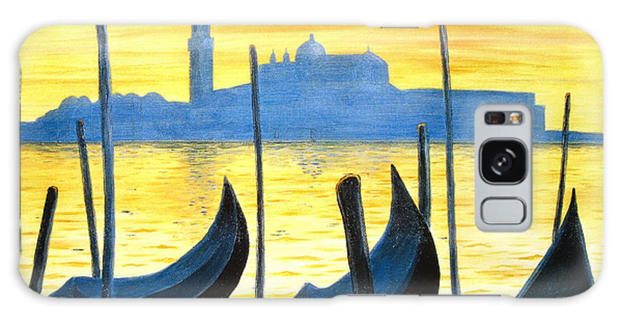 Venice Galaxy S8 Case featuring the painting Venezia Venice Italy by Jerome Stumphauzer