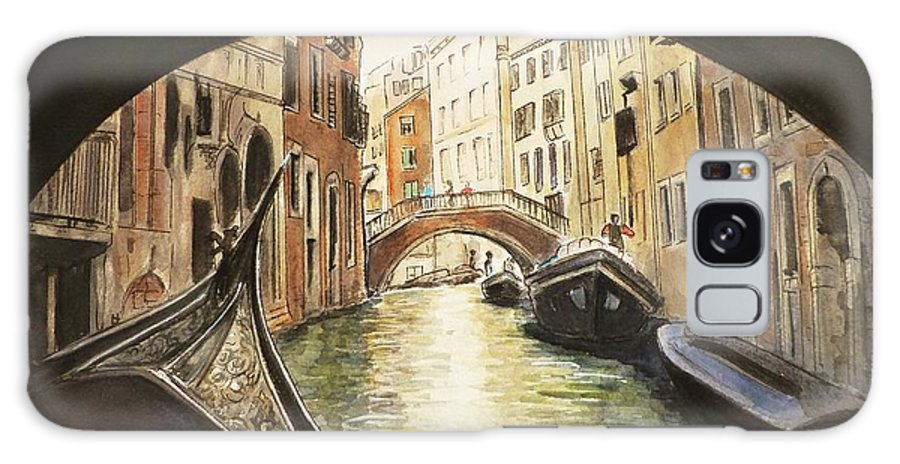 Architecture Galaxy S8 Case featuring the painting Venice II by Henrieta Maneva