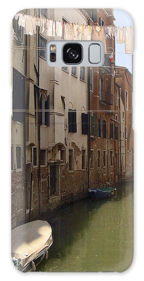 Karen Zuk Rosenblatt Galaxy S8 Case featuring the photograph Venice Laundry Day by Karen Zuk Rosenblatt