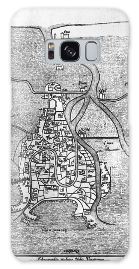 12th Century Galaxy S8 Case featuring the photograph Venice: Map, 12th Century by Granger