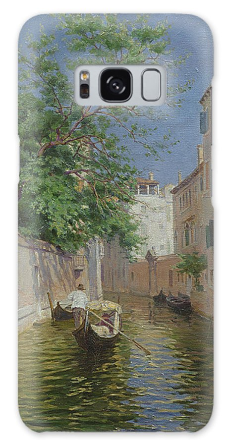 Gondola Galaxy S8 Case featuring the painting Venice by Remy Cogghe