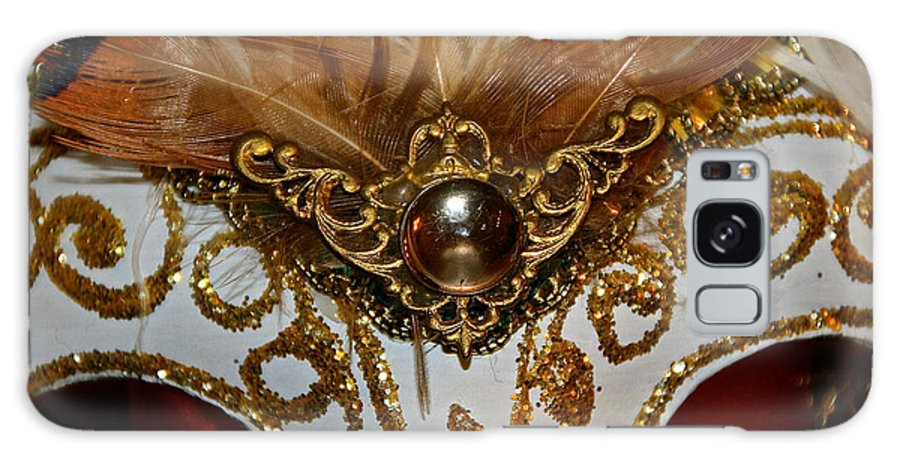 Ball Galaxy S8 Case featuring the photograph Venziana Mask Gem by Susan Herber