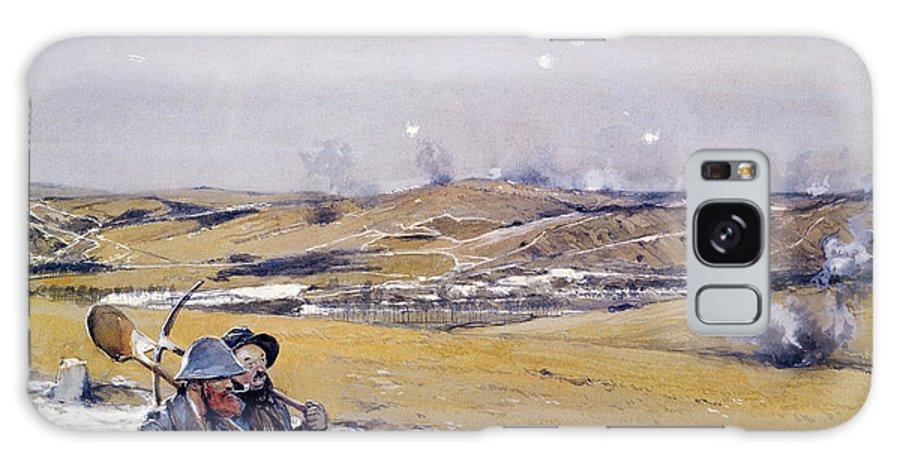 Battle Galaxy S8 Case featuring the photograph Verdun, 1916 Oil On Canvas by Francois Flameng